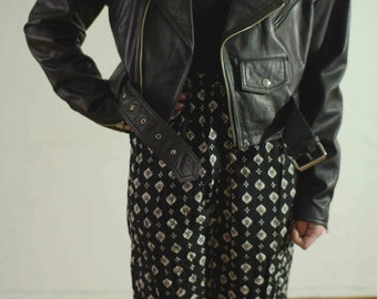 80s Leather Cropped Motorcycle Jacket