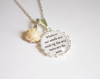 Jane Eyre & Wuthering Heights quote necklace. Charlotte and Emily Brontë. Literature. Personalized