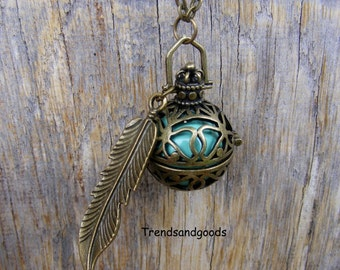 Mexican Bola Necklace Angel Caller Harmony Chime Ball Bronze KT06