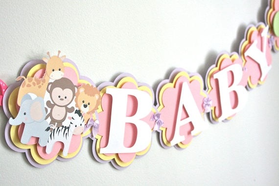 animal baby shower banner baby shower decorations baby zoo themed