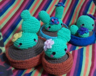 Amigurumi Kawaii Cactus plushie (4 different types to choose)