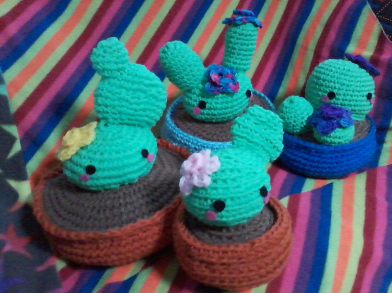 Amigurumi Kawaii Cactus plushie 4 different types to choose