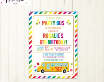 school bus invitation bus birthday boy birthday invitation wheels on the bus birthday invitation printable school party invitation girl