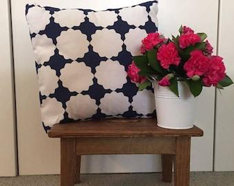 Blue and White Cushion