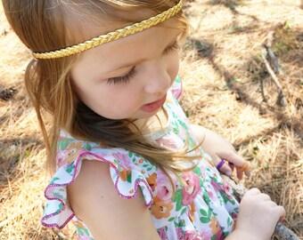Braided Baby Headband, Gold Baby Headband, Toddler Headband, Newborn Headband, Braided Headband, Gold Braided Headband, Baby Headband, Boho