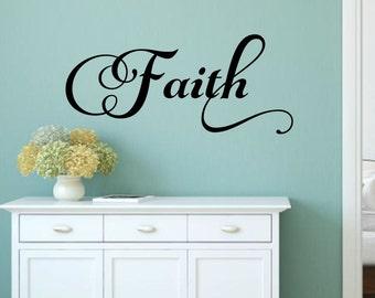 Faith Wall Decal Faith Vinyl Decal Religious Wall Decal Christian Wall Decal Bible Decal Faith Decal Religious Decal Inspirational Decal