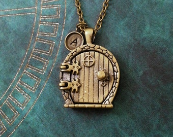 Door Necklace Magnetic Fairy Door Necklace Magnet Necklace Bronze Necklace Brass Necklace Fairy Door Jewelry Fairy Necklace Fantasy Jewelry