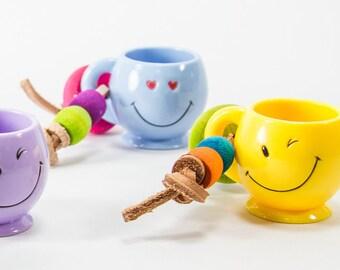 Happy Mug Foot Toys Set of 2 - Medium Parrot Bird Toy Pet Bird Toy