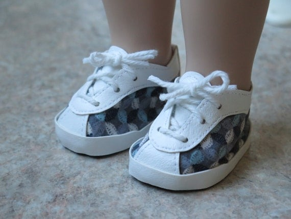 18 inch doll tennis shoes american made doll shoes gray