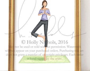 Anita, (Yoga Girl, Fashion Illustration Print)