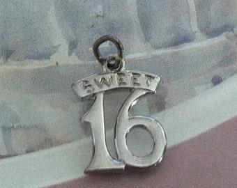 Sweet 16 Charm Sterling