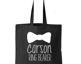 Ring Bearer Tote Bag, Ring bearer Bag, Ring Bearer Gift, Tote Bags