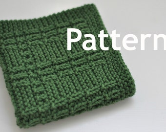 Washcloth / Dishcloth Knitting PATTERN - Orchard