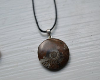Small Sterling Silver Ammonite Pendant