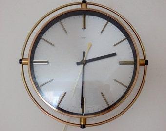 REDUCED Vintage Retro 1960s Mid Century Metamec Electric Wall Clock