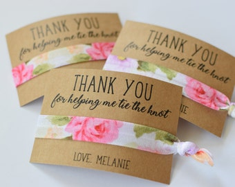 Thank You For Helping Me Tie the Knot / Wedding Party Favors / Wedding Thank You Favors / Hair Tie Favors /Thank You Gifts / Wedding Party