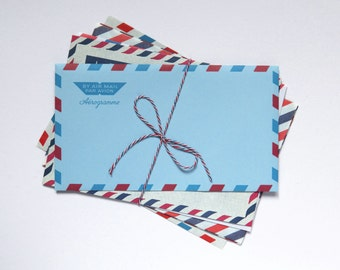 6 Assorted Air Mail Envelopes