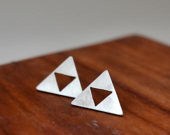 triforce earrings/zelda earrings/legend of zelda jewelry/minimal earrings