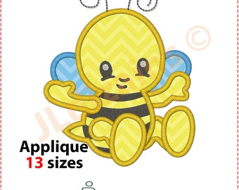 Bee Applique Design. Baby bee embroidery design. Bee embroidery. Bee applique. Baby bee embroidery. Bee applique. Machine embroidery design.
