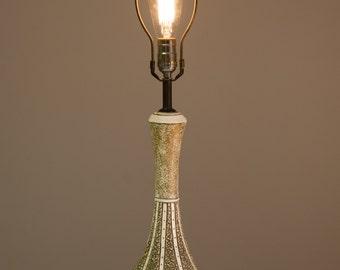 Vintage Mid Century Modern Quartite Creative Corp Ceramic Chalkware Atomic Lamp