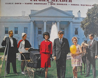 The First Family Featuring Vaughn Meader, Vintage Record Album, Vinyl LP, Comedy Album, Spoof, Bob Booker and Earle Doud Present