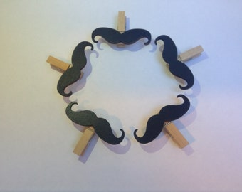Moustache Fridge Magnets - Hipster Hand-Finished Magnetic Moustache Pegs