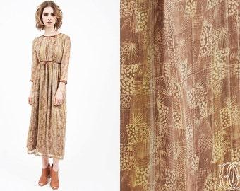 vintage 70s dress vintage 1970s gauze prairie bohemian hippie dress vintage boho peasant dress