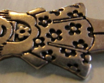 Sterling Silver Molina 925 Girl in Dress Pin