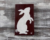 Bunny Decor, Rabbit Silhouette, Easter Bunny, Minimalist Easter Decor, Bunnies, Rabbits, Rabbit Hutch Sign, Bunny Hutch Sign