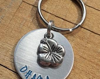 Ohana - Ohana Means Family - O'Hana - Hawaii Keychain - Ohana Gift - Hawaii Gift - Family Accessory - Family Gift - O'hana Keyring
