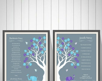 Baby Girls Twins Christening Gift Baptism Gift Baby Boys Twins Baptism Gift Naming Day Gift Nursery Art Baby Dedication Gift - 49777