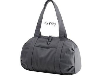 Canvas Handbag,Red Canvas Tote Bag, Black Canvas Boston Bags, Blue Canvas Storage Bag 5 colors