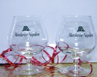 Set/ 2 Mandarine Napoleon Glasses Snifter Luminarc France Logo Quite the history ~50 % OFF  ReDUCED