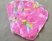 Flannel Cloth Wipes - Tinker Bell (Set of 5)