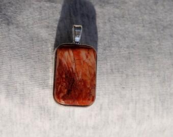 Red Snakeskin Jasper Pendant