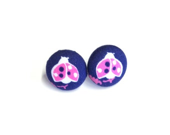Lilly Pulitzer Ain't No Lady Fabric Button Earrings