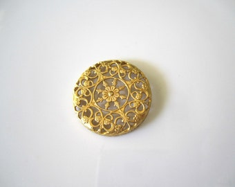 Raw Brass Filigree Brass Round Filigree Findings Round Raw Brass Filigree Brass Filigree Jewelry Supplies 31mm (1 pc) 60V7