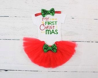 girls first christmas outfit newborn first christmas outfit first christmas outfit girl first christmas tutu outfit red and green christmas