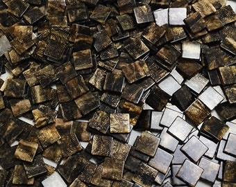 Resin mosaic tiles, 10x10 mm, marble effect, Peat