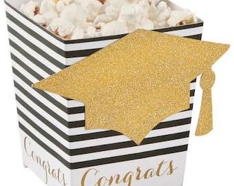 Elegant Graduation Popcorn Boxes