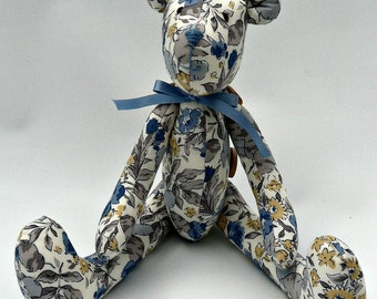 Beautiful handmade Tilda Bear, from Nelly Blue Crafts