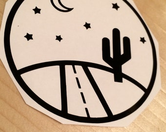 Cactus Decal, Vinyl Stickers, Laptop Decal, Car Sticker, Laptop Sticker, Car Decal