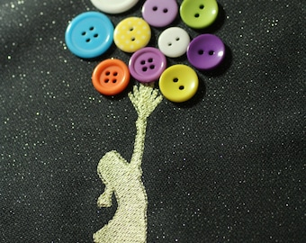 Ballons girl (Banksy)- embroidery design