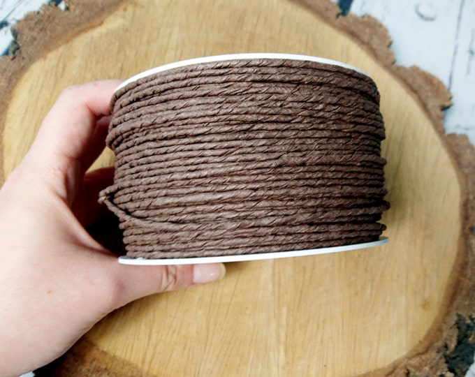 Paper covered rustic wire 100 m  109yd brown flower crown wreath florist supply Wedding Flowers diy decor bouquet woodland