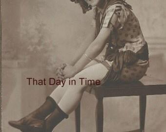 DIGITAL DOWNLOAD Vintage Photo. Flapper. Dancer. Girl. Woman. Lady. 1920's.