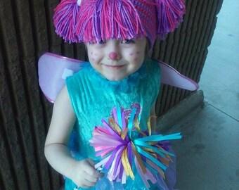 Abby Cadabby inspired crochet wig/hat