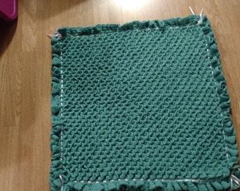 Crocodile Stitch Afghan, Seafoam Baby Blanket, Green Baby Blanket