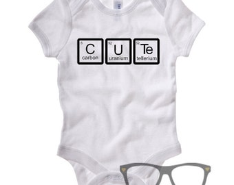 Cute Periodic table cute baby vest, Science Baby body suit, geeky parents, new parents gift, Science baby gift, new geeky parents, Elements