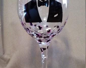Justin Timberlake Wine Glass