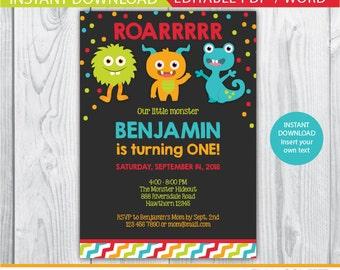 little monster invitation, monster invitation, 1st birthday monster invitations, little monster invite, monster invite, monster printable